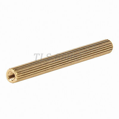 M2 x (3mm-40mm) Solid Brass Female-Female Spacer Round Stud Standoff Screws Nuts