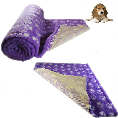 Purple White Paws Vet Bedding NON-SLIP ROLL WHELPING FLEECE DOG PUPPY PRO BED