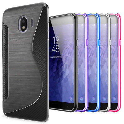 For Samsung Galaxy J3 J4 J6 J7 J8 2018 S Line Gel TPU Silicone Case Skin Cover