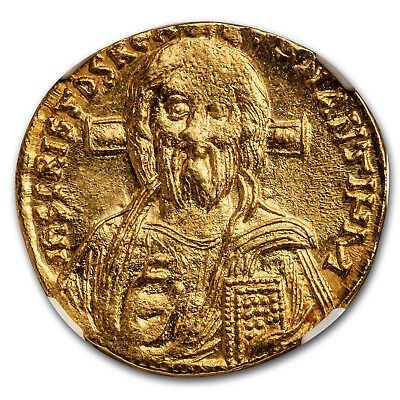 Byzantine Gold Solidus Justinian II (685-695 AD) MS NGC - SKU#173254