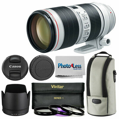 Canon EF 70-200mm f/2.8-32 III USM Lens + 77mm 3 Piece Filters + Cleaning Cloth