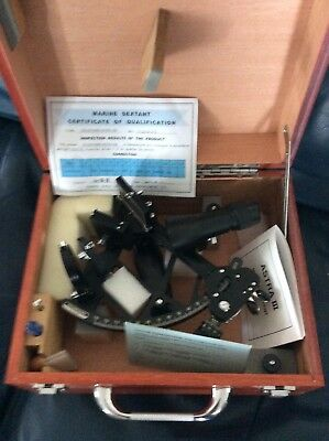 Astra IIIB Marine Sextant in Case w/Cert. of Qualification & Directions