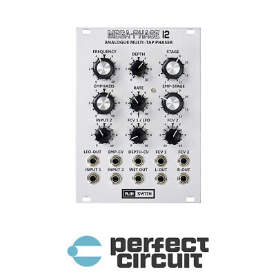 AJH Synth Mega-Phase 12 Silver Phaser EURORACK - NEW - PERFECT CIRCUIT