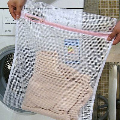 Zippered Mesh Laundry Wash Bags For Delicates Bra Lingerie Socks SU
