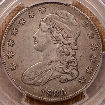 1836 O.111 Capped Bust half, PCGS XF40, super sweet and PQ+   DavidKahnRareCoins