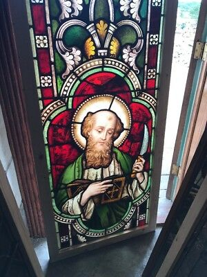 SG 2462 antique painted in fired Saint Barnabas Myer Munich window