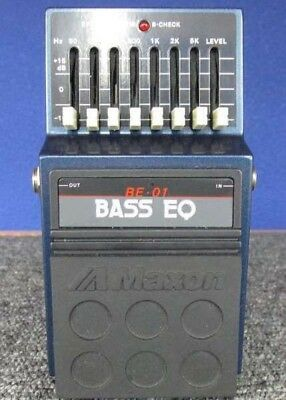 Used! MAXON BE-01 Bass EQ Equalizer Vintage Guitar Effects Pedal Made in Japan