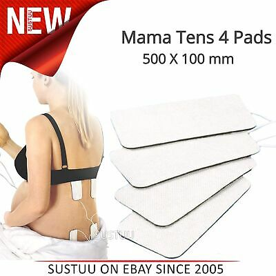 TensCare Mama Tens Pads x 4│Maternity Unit│Self Adhesive│Re-Usable│50x100mm│New│