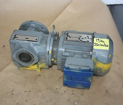 SEW Eurodrive 0.37kW 3 phase electric motor SAF37 DT71D4 30.68:1 Gearbox 45rpm
