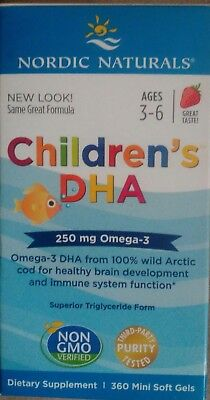 Nordic Naturals Children's DHA 250 mg Omega-3 Supplement - 360 Mini Softgels