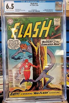Flash 112 CGC 6.5 OW  first Elongated Man and his twitchy nose for adventure!