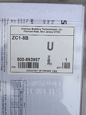 **new** Siemens Cerberus  Pyrotronics Zc1-8B Zone Ul Listed Latest Rev.for Mxl