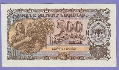 Albania,500 Leke Banknote,1957 Uncirculated Condition Cat#31-A-0098