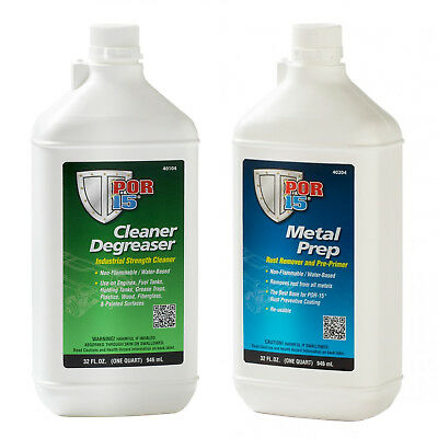 POR-15 Quart Cleaning Kit with Marine Clean Degreaser & Metal Prep Solution