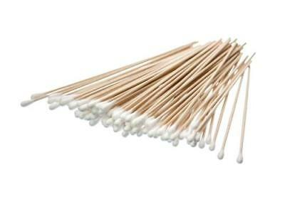 """100 Count 6""""Cotton Swabs Clean Gun Cleaning.Healthcare Jewelry Hobby Arts Crafts"""