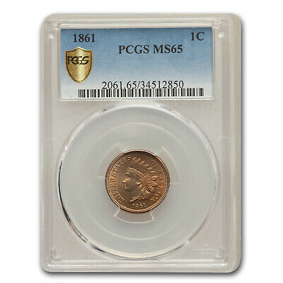 1861 Indian Head Cent MS-65 PCGS - SKU#154772