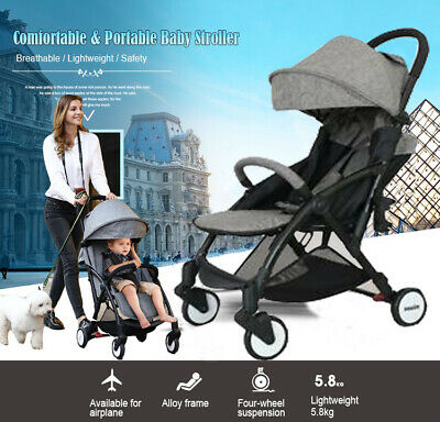 Lightweight Compact Fold Baby Stroller Pram Pushchair Travel Carry On Plane