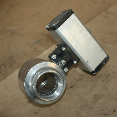 """Sanitary stainless pneumatically Omal actuated threaded ball valve DN50 2"""" 50mm"""