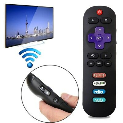 RC280 LED HDTV Remote Control for TCL ROKU TV with Rdio Vudu Netflix Amazon