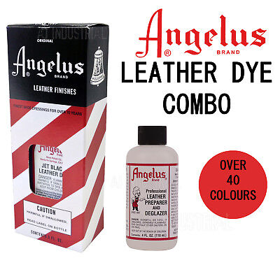 Leather Dye & Preparer Combo Angelus For Dying Leather - Au Seller !!!!