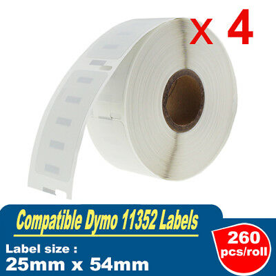 4x Compatible for Dymo 11352 Label 25mm x54mm Labelwriter 450/450 Turbo SD11352