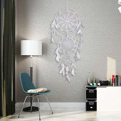 Retro Dream Catcher Circular With Feather Wall Hanging Decoration Ornament 130cm