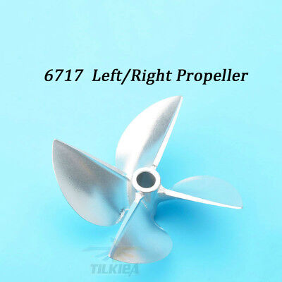 "Left /Right Rc Boat Screw Alloy Propeller Prop D67mm For 6.35mm 1/4"" Prop Shaft"