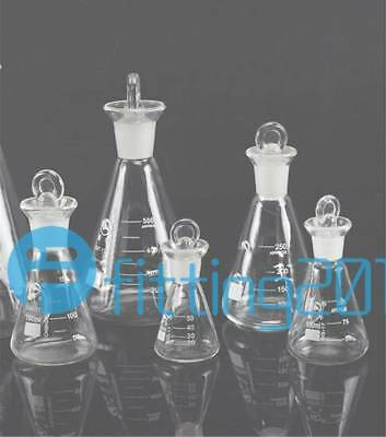 50/100/150/250ML Flask Conical Bottle Lab Chemistry Glassware Glass Erlenmeyer