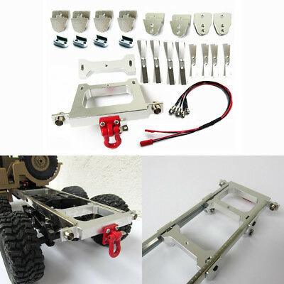 For WPL B14 B24 B16 1/16 RC Car DIY Assembly Metal Chassis Modified Rear Bumper