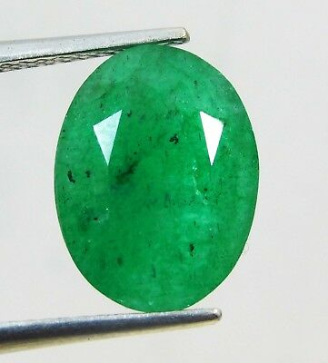 Natural 4.10 Ct Oval Cut Colombian Loose Emerald Gemstone. 11017 GHT m
