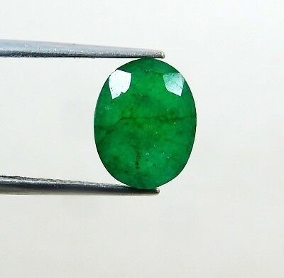 Natural 4.10 Ct Oval Cut Colombian Loose Emerald Gemstone. 10933 GHT m