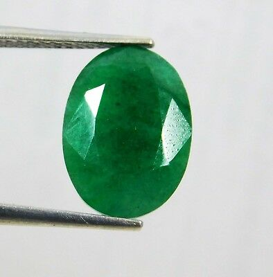 Natural 6.10 Ct Oval Cut Colombian Loose Emerald Gemstone. 10738 Gm