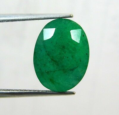 Natural 8.50 Ct Oval Cut Colombian Loose Emerald Gemstone. 10986 Gm