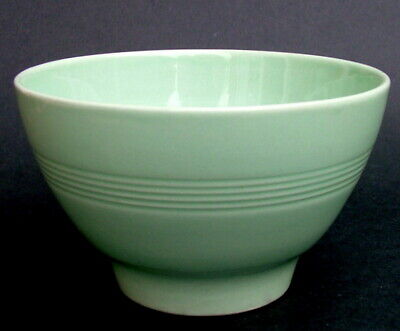 Vintage Wood Woods & Sons Green Beryl Tea Size Open Sugar Bowl 11.5cmw in VGC