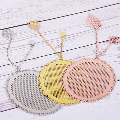 59*78*4mm Oval Stainless steel bookmark Cross Stitch Pattern diy accessory 1pcs
