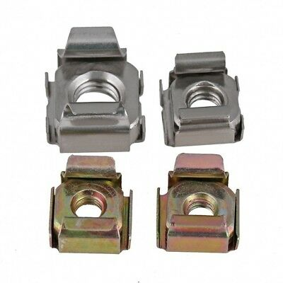 10pcs Cage Nuts M4/M5/M6/M8 Cagenuts Rack Mount A2/201/Carbon Steel/Color Zinc