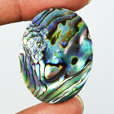 40ct 31X23mm Natural Abalone Mother of Pearl Oval Gemstone Doublet Cabochon RU13