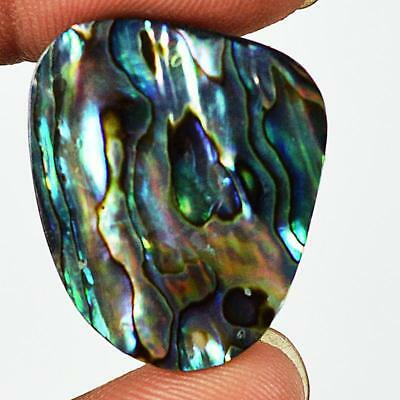21ct 25X23mm Natural Abalone Mother of Pearl Fancy Gemstone Doublet Cab RU82