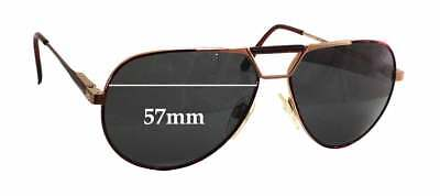 426b44b84a SFx Replacement Sunglass Lenses fits Safilo Elasta Aviator - 57mm wide x  48mm ta