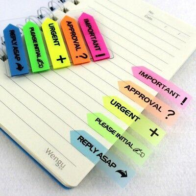 100Pcs Adhesive Memo Pads Sticky Label Sorted Index Notepad Stickers Tag Notes