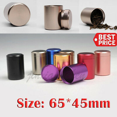 2PCS Stash Jar-Airtight Smell Proof Container-New Aluminum Herb Jar USPS FAST