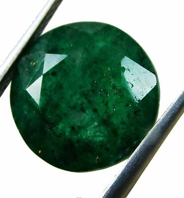 Natural 5.40 Ct Beautiful Round Cut Colombian Emerald Loose Gemstone. 5672 QW