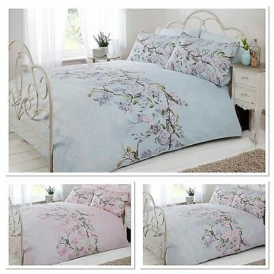 Eloise Birds Floral Quilt Cover Lace Print Bedding SINGLE DOUBLE KING SUPERKING