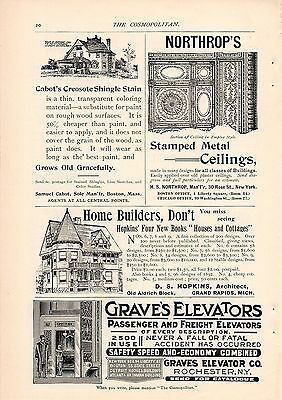 7 Graves Elevator Ads-Rochester,ny-1893,1894,1895,1896