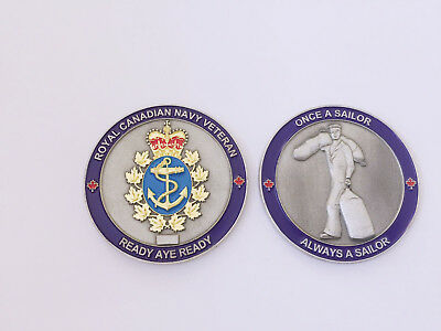 Royal Canadian Navy Veteran Collectible Challenge Coin