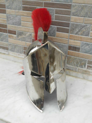 Greek 300 Spartan Helmet Silver Antique Medieval Knight Replica Halloween Gift