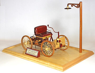 Woodworking plan to make an 1898 Ford car.  A plan, not a kit