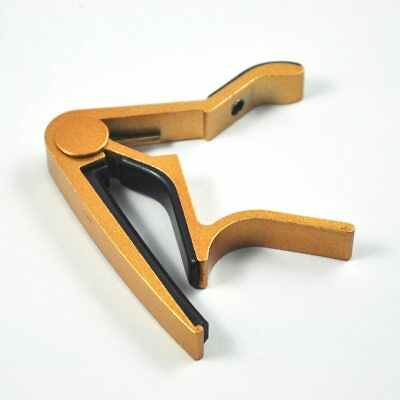 New Single-handed Guitar Trigger Capo Quick Change Golden