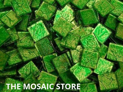 Green Silverfoil Glass Tiles 2 cm - Mosaic Tiles Supplies Craft Art