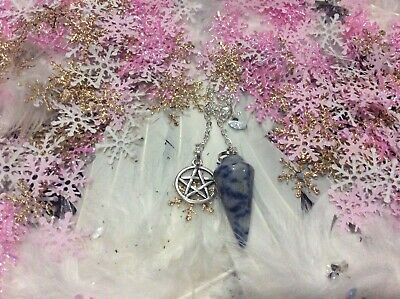 Code 611 Sodalite infused pendulum Choice of 1 piece Directions of Time Reiki